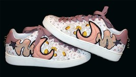 Coach G1914 Beaded Appliqued Lace Flowers Leather Sneakers Wms 8.5 NWOT ... - $194.99