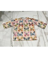 Portaqui Girls Pink Colorful Butterfly Print Dress Size 5 - $7.57