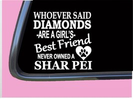 """Shar Pei Diamonds TP 479 Sticker 6"""" Decal rescue dog chinese - $3.99"""
