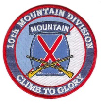 US Army 10th Mountain Division Patch with Rifles Patch - $10.88