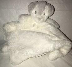 Blankets & Beyond White Gray Fuzzy Puppy Baby Nunu Security Blanket Love... - $13.99