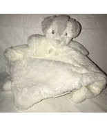 "Blankets & Beyond White Gray Fuzzy Puppy Baby Nunu Security Blanket Lovey 13"" - $13.99"