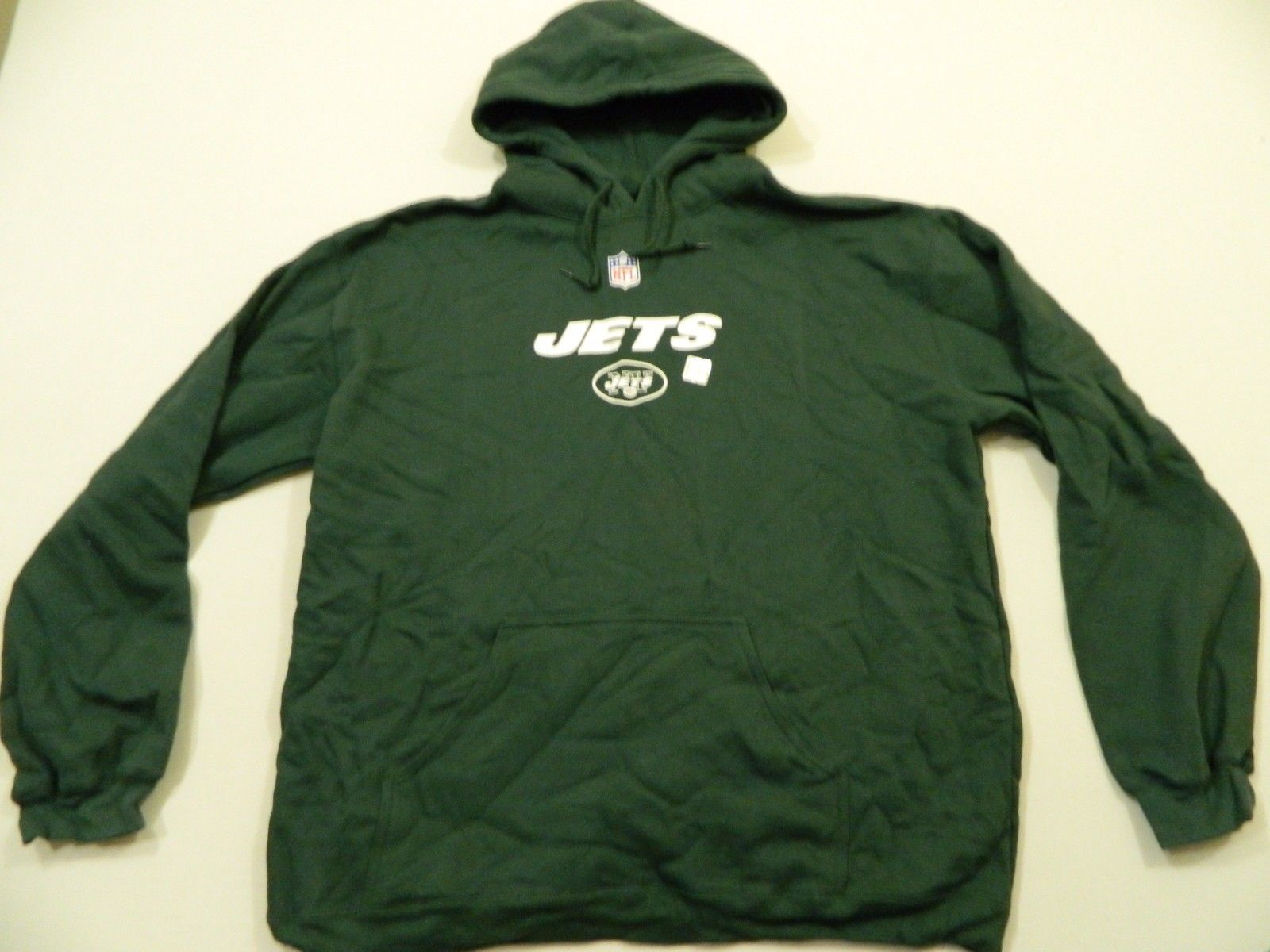 M75 NEW REEBOK New York Jets Hooded Hoodie Sweatshirt Jacket  MEN'S 2XL  - $27.67
