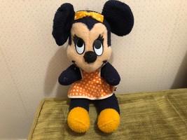 """Vintage Walt Disney Minnie Mouse Stuffed Animal Doll c.1950's - 60's 13"""" - $29.65"""