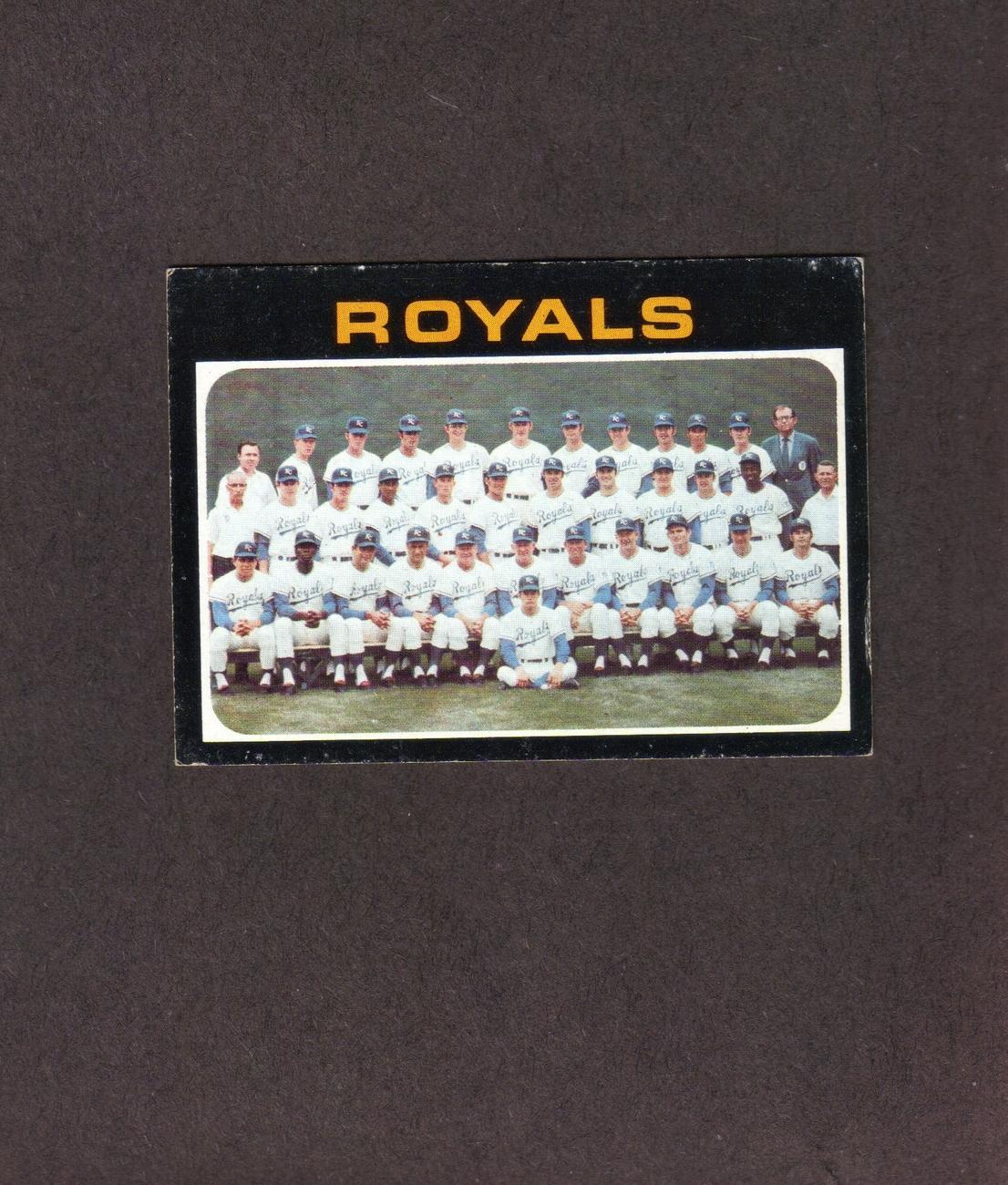 1971 Topps # 742 Kansas City Royals Team Card Bonanza