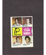 1974-75 Topps # 223 Indiana Pacers Team Leaders ABA - $1.00