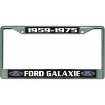 ford galaxie 1959-1975 auto car logo chrome license plate usa made - $28.49