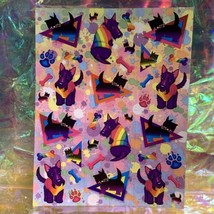 Lisa Frank Complete Sticker Sheet S283 Handsome Terrier Pup Headed Pridefest