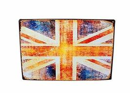 PANDA SUPERSTORE [UK Flag] Wall Decor Tin Metal Drawing Vintage Retro Classic Pl