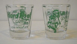 Hard Rock Cafe Los Angeles 2002 St. Patricks Day Short Shot Glass set of 2  - $19.20