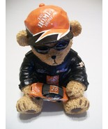 Tony Stewart Teddy Bear Bank Home Depot Car #20 NASCAR Rookie Year - $29.95