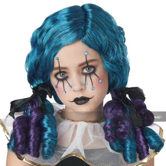 California Costumes Clowny Kid Curls Circus Wig Girl's Halloween Costume 70959 image 1