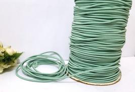 2mm wide - 5 yds - 10 yds Celadon Green Elastic Thread Round Elastic Cor... - $5.99+