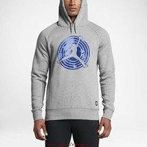 "Nike Men's AJ11 ""Space Jam"" Fleece Pullover NEW AUTHENTIC Grey 823714-063 - $50.95+"