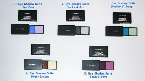 MAC Cosmetics Eye Shadow Duo Suite Blue Silver Purple 5 MAC
