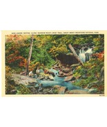 Hikers resting along Rainbow Rocky Spur Trail, Great Smoky Mountains Park  - $5.99