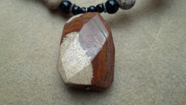 Carved Jasper Stone Necklace Hand Made In USA Unisex Father's Day Gradua... - $29.99