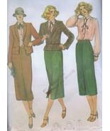 Vogue Sewing Pattern 7214 Long Skirt Suit Blouse Jacket Size 8 Business ... - £2.61 GBP