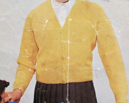 VINTAGE Knitting Patterns CHILDRENS Cardigan Sweater BOYS or GIRLS Age 6 - 15 - $2.95