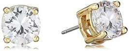 Anne Klein Gold Tone and Crystal Stud Earrings - $20.76
