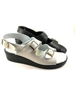 Damianis by Italian Shoemakers 303 Low Wedge Comfort Sandal Choose Sz/Color - $35.10