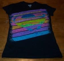 Women's Teen Dc Comics Super Girl Pop T-shirt Medium New Wonder Woman Superman - $19.80