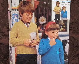 VINTAGE Knitting Pattern CHILDRENS Pullover Sweater BOYS or GIRLS Chest ... - $4.95