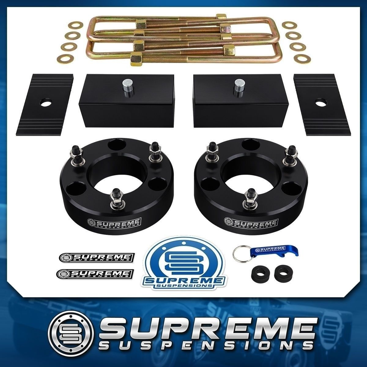 """1.5/"""" Level Lift Kit for 07-19 Chevy Tahoe Cadillac Escalade 6-Lug 2WD 4WD 2.5/"""""""