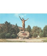 """Indian Statue """"Hail to the Sunrise"""" Mohawk Trail, Charlemont, Mass, Post... - $5.99"""