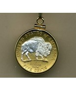 "New Jefferson nickel ""Sacred White Buffalo""coin jewelry pendant necklace - $90.00"
