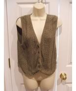 PIERRE CARDIN 100% cotton crochet olive vest size medium made in USA - $16.83