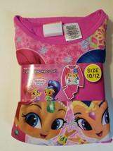 Shimmer and Shine Girls 2 Piece Pajama Set Long Sleeve Size 10-12 NWT  - $16.99