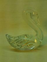 "Clear Crystal Swan Figurine 4.25"" tall  BB321 - $6.49"