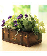 Garden Resin Suitcase Flower Pot Mini Succulents Planter DIY Flowers Gre... - $25.00
