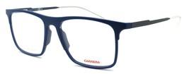 Carrera CA6667 R5J Men's Eyeglasses Frames 53-17-145 Matte Blue + CASE - $64.15