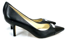 COACH Women's Zan Classic A6275 Black Matte Calf & Patent Leather Pumps 8.5B - $99.00