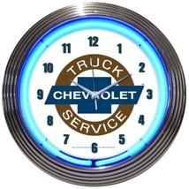 "Chevy Truck Chevrolet Service Neon Clock 15""x15"" - $72.99"