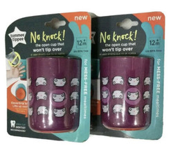 (2 Pack) Tommee Tippee No knock! Won't Tip Over Open 6 oz Cup 12m+ Purple - $9.56