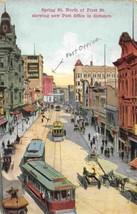 Spring Street Streetcars Los Angeles 1910c postcard - $6.93