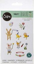 Sizzix ThinlitsDie Set 23 Pack Easter Celebration by Lisa Jones, Multicolor - $8.63
