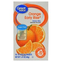 Great Value Sugar Free, Low Calorie Orange Early Rise Drink Mix Pack of 6 - $21.50