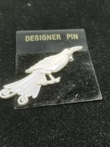 Bird Pin in a White Opalescent Color - $15.29