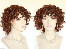 Medium Short Layered Spiral Curls Blonde Brunette Red Wavy Wigs - $42.99