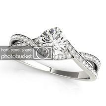 1.24 Cttw White Sim Diamond 10k White Gold 925 Silver Engagement Wedding... - $1.038,27 MXN