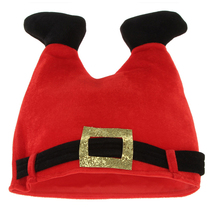 Lovely Santa Claus Pants Shape Beanies Caps Christmas Hats Warm Winter Cosplay - $15.82