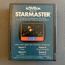 ATARI 2600 Starmaster tested video game cartridge clean label Activision AX-016 - $1.99