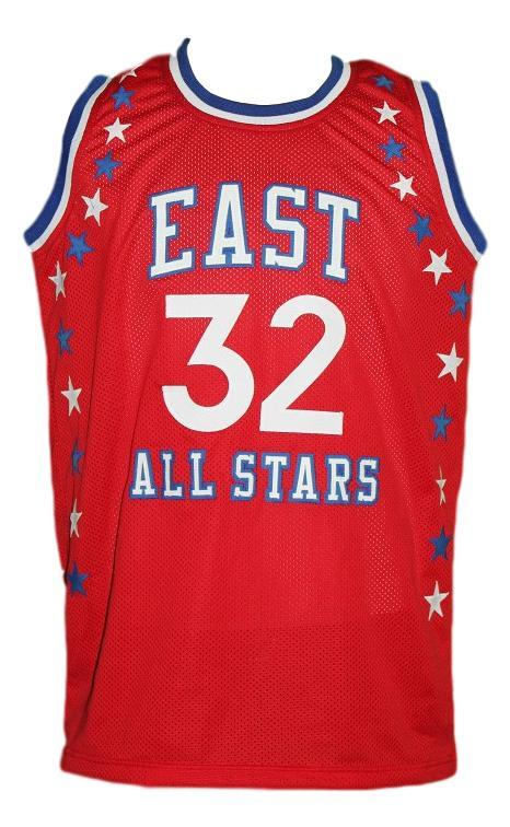 Julius erving aba east all stars basketball jersey red   1
