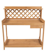 Potting Bench Table Outdoor Garden Patio Work Bench Station Planting Sol... - $119.91