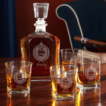 Oxford Monogrammed Whiskey Gift Set with Decanter - $119.95