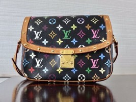 Authentic Louis Vuitton Sologne Multicolore Monogram Canvas Noir Crossbo... - $688.75